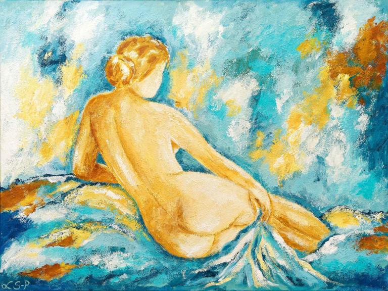"Lene Schmidt-Petersen: ""Model"" (80x60 cm, bestillingsarbejde)"