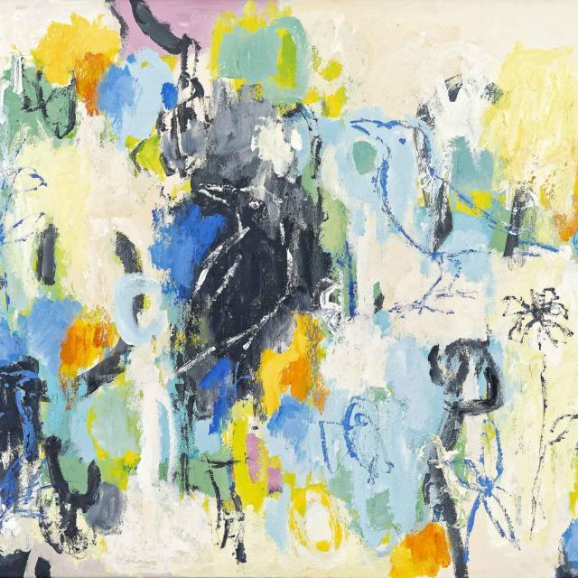 """Lene Schmidt-Petersen: """"Ved al ting var der noget fornøjeligt"""" (80x60 cm)"""