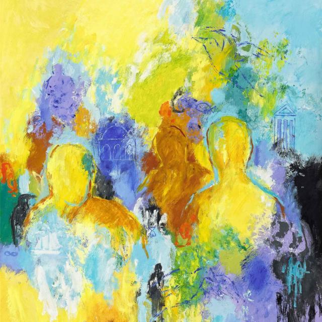 """Lene Schmidt-Petersen: """"En god rejse ind i fantasiens verden"""" (80x100 cm)"""