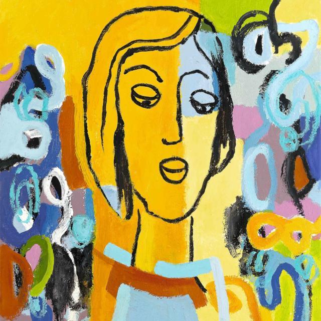 """Lene Schmidt-Petersen: """"Karitas"""" (50x57 cm)"""