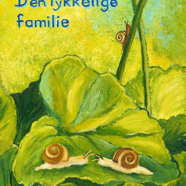 """Lene Schmidt-Petersen: """"Den lykkelige familie"""" (30x40 cm)"""