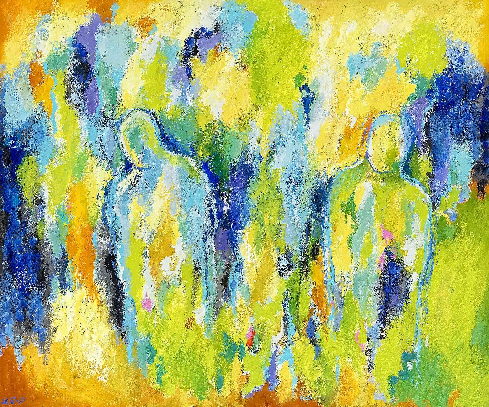 "Lene Schmidt-Petersen: ""En meningsfuld vandring mod bedre dage"" (120x100 cm)"