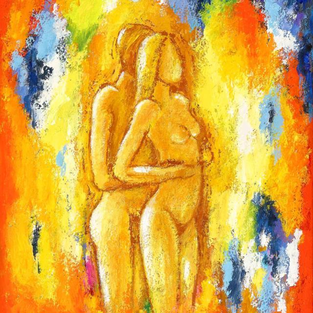 """Lene Schmidt-Petersen: """"Min kæreste, jeg elsker dig"""" (50x60 cm)"""